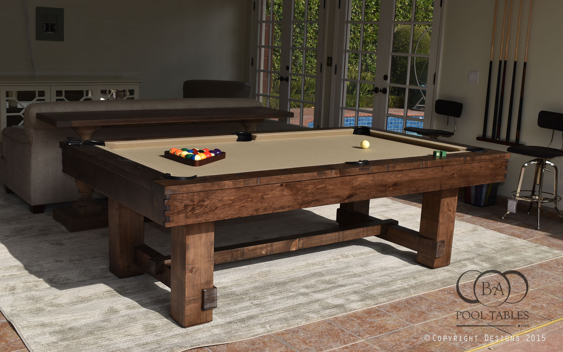 Rustica Pool Table