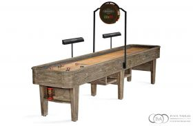 Andover Shuffleboard Table Driftwood with scored and lights
