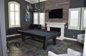 Rustica Pool Table, Black