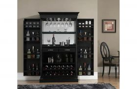 Angelina Home Bar Black