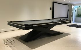 ULTRA MODERN POOL TABLE BLACK