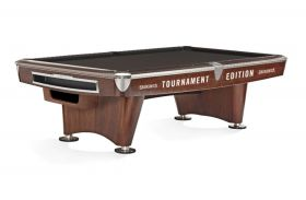 Brunswick Gold Crown VI Pool Table Mahogany Ball Return & Tournament Edition