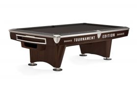 Brunswick Gold Crown VI Pool Table Skyline Walnut & Espresso Tournament Edition Gully Return