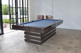 Hermosa Pool Table Grey Shimmerwood