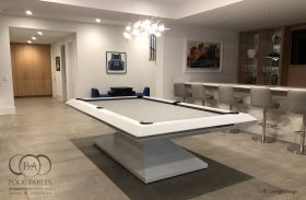Modern Pool Tables, Pyramid White